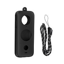 Sunnylife  Silicone Protective Cover Non-slip Lens Screen Protector Camera Body Case For Insta360 ONE X2 Action Camera Accessories