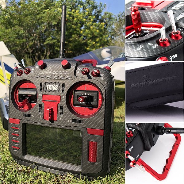 RadioMaster Red TX16S MAX Edition Multi-protocol RF System OpenTX Transmitter 2.4G 16CH Hall Sensor Gimbals with CNC and Leather for RC Drone (in stock)