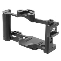 BGNing CNC Aluminum DSLR Camera Form-fitting Cage for Sony ZV1 Rig Vlog with Arri Cold Shoe Mount 1/4  3/8  Inch Screw Holes