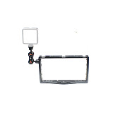 FEICHAO Aluminum Alloy Bracket Stabilizer Live Video Fill Light Mounting Bracket 1/4 3/8 Inch ​Cold Shoe Stand for Huawei P40 Apple 12 11 for GoPro for DJI Insta360 ONE R and Micro SLR