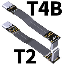 ADT-Link USB 3.1 Type C To Type C Extension Cable Shield FPV FPC Ribbon Flat USB C Cable 3A Gen2 x 2 T2B-T4B EMI shielding