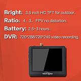 Hawkeye Flight-Master Plus 5.8G FPV display Monitor 3.5 inch with DVR for DIY RC FPV Racing Drone