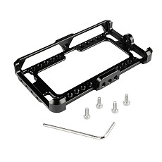 BGNING New Aluminum Monitor Cage Bracket Mount Stabilizer Perfect Fit For FeelWorld F5 On-Camera Monitor