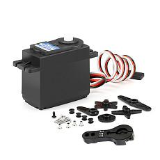 JX Servo PDI-4806HB/6KG Plastic Gear Digital Servo 120° with 25T Metal Servo Arm for DIY RC Airplane Robot Models