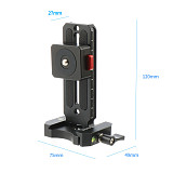 BGNing Universal SLR Cameras Quick Release Plate Horizontal Vertical Shooting with Bottom Aka Cold Shoe Mount for DSLR L Board Bracket