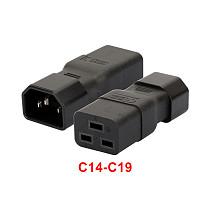 XT-XINTE PDU PSU APC UPS IEC C14 Male to C19 Adapter PLUG Computer Room Server Power Conversion Receptacle Adapter Convert Socket Plug