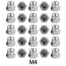 BGNing 25x Stainless Steel M4 M5 M8 M10 Nut Locking Cap Nuts Decorative Covers Universal Photography Bicycle Accessories