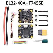 JHEMCU F745SE 3-6S Brushless Flight Control 5V 10V BEC OSD HDVTX FPV BL32-40A/BL32-55A BLHELI_32 4in1 ESC for FPV Racing Drone