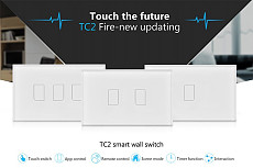 Broadlink TC2 US Smart Home RF Touch Light Switches 2Gang 110V Remote Control Wall Touch Switch Panel