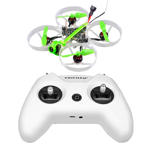 Happymodel Moblite7 1S Frsky +LiteRadio OpenTX 2.4G 8CH Radio Transmitter 75mm Ultra Light Brushless Whoop EX0802 Brushless Motors VTX Power Switchable 25mw~200mw Lightest 1s AIO 5IN1 F4 Flight Controller (in store)