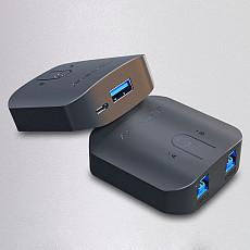 Acasis USB3.0 Splitter 2 Port KVM Sharing Switcher 2 in 1 out for 2 Computers Share 1 Printer Device USB HUB Printer Sharer