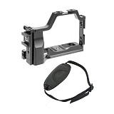 FEICHAO Camera Cage Rig Compatible for Canon M50/M5 Vlogging Case Microphone/LED Light Handheld Bracket with Dovetail Slot Cold Shoe 1/4  1/8  and Locating Hole for ARRI