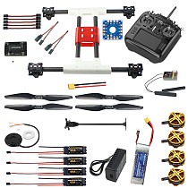 FEICHAO H467 467mm DIY FPV Racing Drone Kit Quadcopter APM2.8/PIX Flight Controller 40A ESC 1255 Propellers Flysky/Radioking TX18S Controller