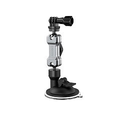 Sunnylife Universal 360 Rotating Car Sucker Mount Bracket Car Phone Holder Adjustable Stand For iPhone 12 for Samsung S10 Plus Huawei GPS