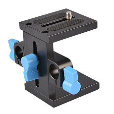 BGNING Standard 15mm Caliber Base Support Frame Gimbal Guide Rail Bracket Tripod Heel Focus Hood for Micro SLR Cameras