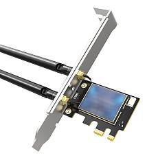 EDUP Dual Band Wifi6 Wireless Desktop PCIE Intel Network Card 802.11ax 2.4G/5Ghz Bluetooth 5.1 Gigabit PCI Express Adapter