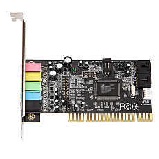 XT-XINTE PCI Sound Card 5.1CH 5.1 Channel CMI8738 Chipset Audio Interface PCI-Express 5.1 Stereo Digital Card Desktop Soundcard