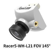 RunCam Racer 5 FPV Camera 1000TVL Built-in Gyro Integrated OSD Racing Camera 160°145° with 1.8mm 2.1mm Lens Racer5 for RC Racing Drone