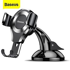 Baseus New Gravity Dashboard Mount Bracket Car Phone Holder Stabilizer Tripod Stand for iPhone Samsung Smart Phone