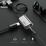 Baseus New Adapter Charge and Headphone 2 in 1 Type-C to 3.5mm Head Aux Audio USB C Cable