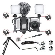 FEICHAO Handheld Phone Stabilizer Universal Portable Adjustable Mobile Phone Cage Kits for iPhone/Huawei/Xiaomi/Samsung