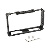 BGNING Director's Monitor Cage Bracket Form-fitting W/ Shoe Mount & ARRI Locating Pins Exclusively For FeelWorld LUT6 & LUTS6 Monitor
