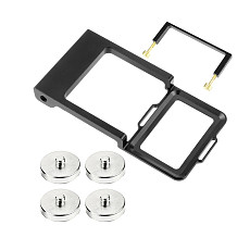 FEICHAO Camera Gimbal Mount Adapter Switch Plate w Fitting Clip for Gopro 9 8 7 6 Vertical Handheld Adapter Counterweights Optional