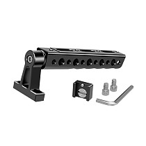 FEICHAO Top Handle Grip with Cold Shoe Mount 1/4 3/8 Screw Hole for DSLR Quick Release Camera Cage Monitor Camcorder Stabilizing