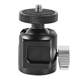 FEICHAO 360 Degree Rotation Mini Ball Head Aluminum Alloy Lightweight Portable Ballhead with Cold Shoe for SLR Camera Tripod