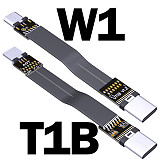 ADT-Link USB 2.0 Micro B to Type C Flat Cable UTW Series USB Micro B 2.0 to USB-C Male/Male Extension Cable 480M/bps 15cm