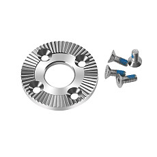 FEICHAO Stainless Steel Arri Rosette Mount Adapter Gear with 12mm Un-Threaded Thru Hole for Handle Grip DSLR Camera Accessories