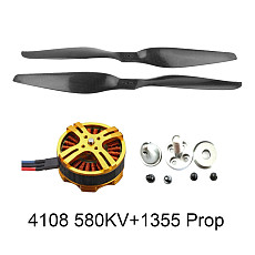 FEICHAO 4108 580KV Multiaxial Brushless Motor 3-6S Pull-2000g + 13x5.5 3K Propeller CW CCW 1355 for RC DIY Quadcopters Multicopters Drone Tarot FY690S 680PRO