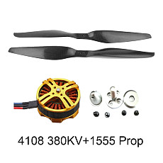 FEICHAO 3-6S 380KV 4108 Multi Rotor Brushless Motor Pull-2080g +15x5.5 3K Propeller CW CCW 1555 for 4/6/8-Axle Plant Protection Aircraft DIY Drone Kit
