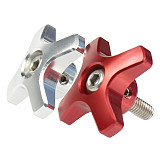 BGNing CNC 304 Stainless Steel Screw with Aluminum Alloy Body M6 Torx Thumb Screws Kit Red/Silver