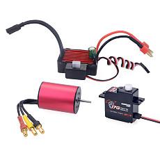 Surpass Hobby Combo 2430 6300KV Brushless Motor  w/KS25A ESC+ 17G plastic Digital Servo Set for 1/18 RC Car Model Parts