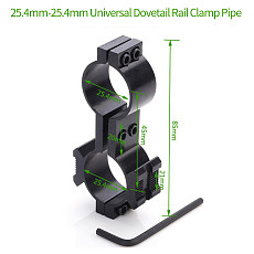 BGNING Universal Metal 25mm Ring 20mm Rail Mount Tactical Flashlight Clip Holder Torch Clamp Bracket for Hunting Shooting Accessories