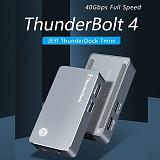 JEYI ThunderDock ThunderBolt3 ThunderBolt4 JHL7440 Storage for NVME SSD TYPEC3.1 PD charger USB C3.1 DOCK m2 M.2 PCIE SSD DP8K