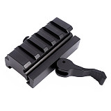 BGNing 3 Slot Quick Detach Lever Lock Mount Quick Release Block Rail Adapter 20mm QR Adaptor for Rifle Tactical Hunting Shooting