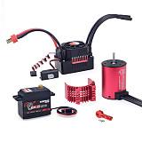 Surpass Hobby 3650 4500KV Motor KS60A ESC 6kg metal Digital Servo Combo for RC Drift Racing Car Truck Parts