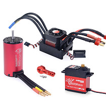 Surpass Hobby 4076 2250KV  Motor KS150A ESC 20kg Half aluminum frame iron core extended version Digital Servo Combo for RC Drift Racing Car Truck Parts
