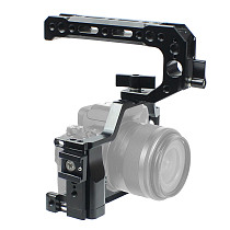 FEICHAO BTL-JN50 CNC Aluminum Alloy Camera Extension Protection Frame Camera Cage Cold Shoe Handle Tripod Top Handle for Canon M50/M5