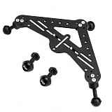 FEICHAO BQS-B-A CNC Aluminium SLR Diving Video Triangular Gimbal Tray Rig Bracket Mount for Underwater LED Light Stand DSLR Camera Tripod Support