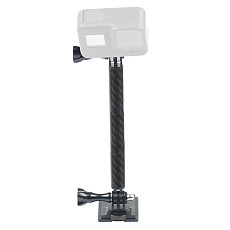 BGNING Carbon Fiber Helmet Mount Extension Rod Extension Arm Upgrade Locking Notch for All Insta360 ONE R/GOPRO Series/DJI Osmo Action/Xiaoyi/EKEN/AKASO EK7000 4K