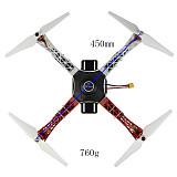 FEICHAO F450 450mm RC Quadcopter 3-4S with APM2.8/PIX2.4.8 Flight Controller 2212 920KV Motor TX18S Hall Sensor Lite Transmitter
