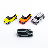 TURBO 1:76 Scale Ultra-small Remote Control Car Sand Table Racing Car 75mAh Battery Type-c Charging Port Toy Car