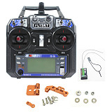 Flysky FS-i6 6CH 2.4G AFHDS 2A LCD Transmitter with iA6 Receiver and Monitor Stand for RC Heli Glider Quadcopter