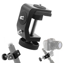 BGNing Aluminum Alloy Clip UNC1/4 Inch Screw C Stand Clamp with Ball Head Bracket Holder Mount for Camera Tripod Flash Holder Stand Clamp with Ball Head Bracket Mount for Camera Tripod Flash Holder
