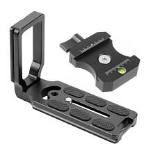 FEICHAO Universal L Shape Plate Adapter 3/8  to 1/4  Screw Nut Level for Canon 5D Mark II 600D Nikon 550D DSLR Tripod Ball Head QR Board