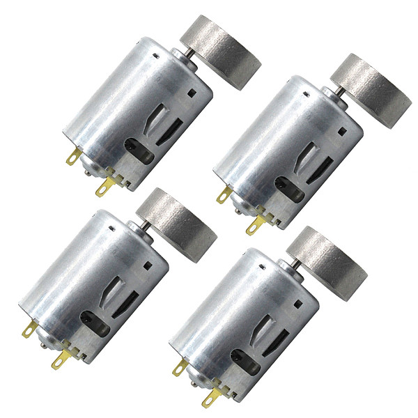 FEICHAO 4pcs 385 Vibration Motor 6V 12V Eccentric Wheel Vibration Motor Diy DC Manual Technology Small Production Accessories