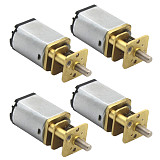 FEICHAO 4pcs 030 Geared Motor 3V 6V Large Torque Motor Diy Technology Small Production Accessories Metal Gear